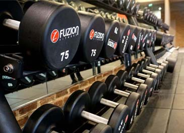 weight training equipment in fitness gym