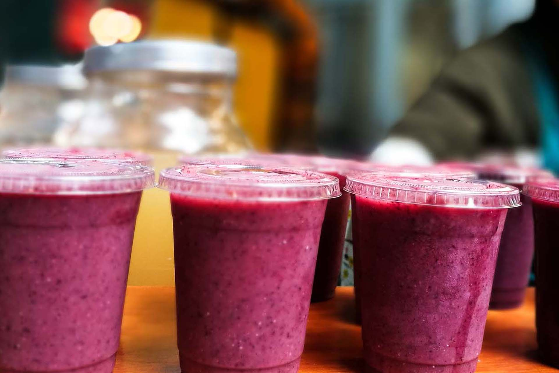 a group of multi-fruit smoothies for weight loss program