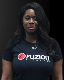 jump start trainer brithany at fuzion fitness brampton on gym