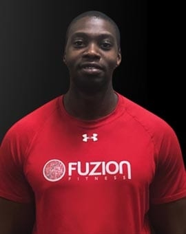 personal trainer david in fuzion fitness gym brampton on