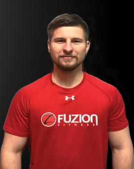 jump start trainer mateusz at fuzion fitness brampton on gym