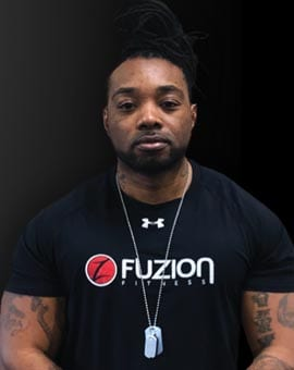 jump start trainer nigel at fuzion fitness brampton on gym