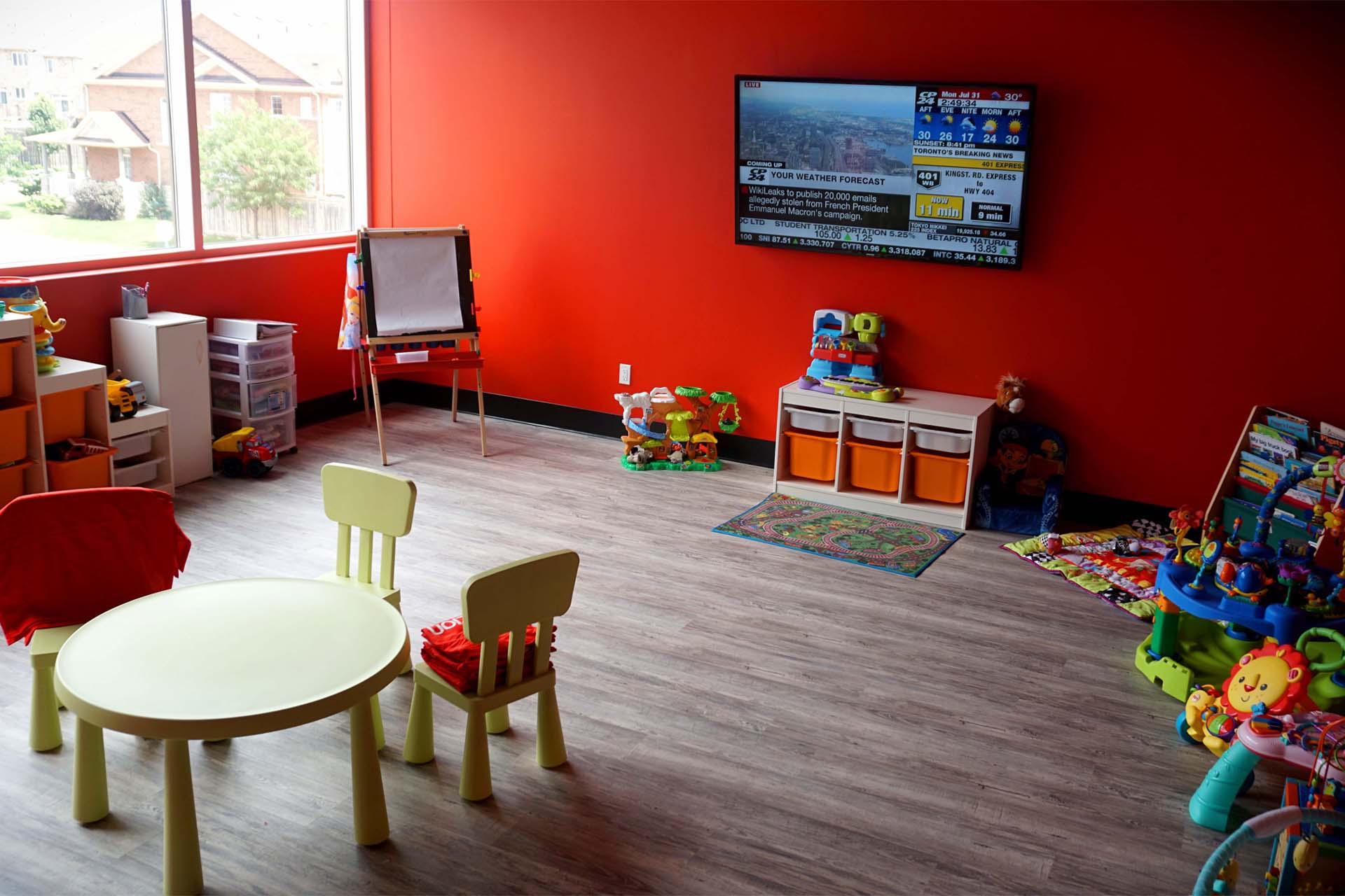 childcare area at fitness center